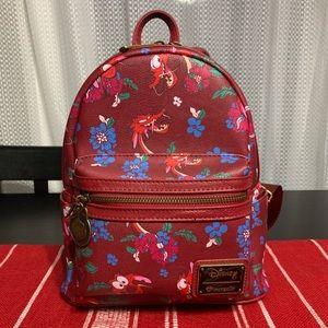 Mushu Loungefly Mini Backpack NWOT